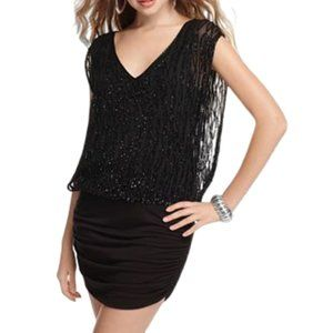 """Guess Sequined """"Edie"""" Black Cocktail Dress- Sz. XS"""